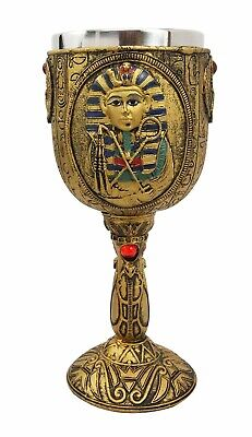"6.75""H Ancient Egyptian Pharaoh King Tut Wine Goblet Chalice Cup Collectibles"