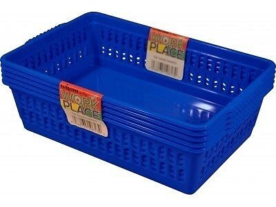 Set Of 5 Small Handy Baskets - Blue