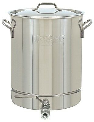 BAYOU CLASSIC STAINLESS STOCKPOT 16-Gallon Spigot & Vented Lid Steam Boil Brew