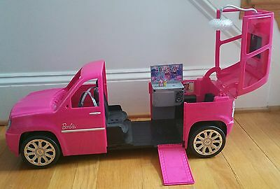 Barbie Rock n Royals Glam Limo 2010 Escalade car SUV! Excellent!