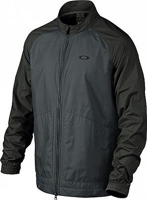 NEW Oakley Bryant Long Sleeve Rain Jacket Black/Charcoal Mens Size Large (L)
