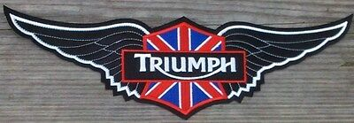 Triumph Motorcycles 12 Inch Black Wing Patch