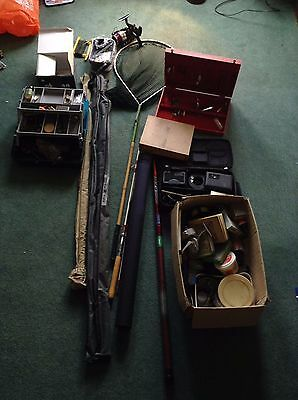 Massive Job Lot of Fishing Equipment (Rods, Flies, Lures, Weights, Reels + More)