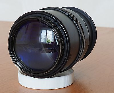 Soviet Projector lens RO-108-1 90mm f2 lens Red P 1959 yaer