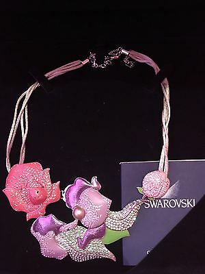 Swarovski Alice In Wonderland Flower Garden Necklace Disney Rare New In Box