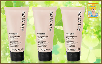 Lot of 3 Mary Kay 3 Micro-Dermoabrasión Refinar TimeWise - FRESH FULL SIZE.