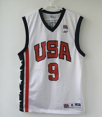 #9 PIERCE REEBOK USA TEAM BASKETBALL SHIRT Jersey size M rare