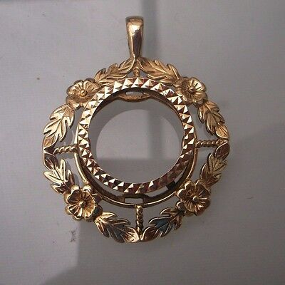 Half-Sovereign Pendant/Mount 9ct Gold Weight 5.5g NO COIN Hallmarked Quality
