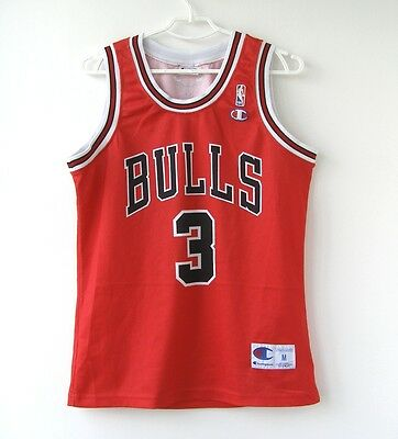 #3 CHANDLER CHAMPION Italy CHICAGO BULLS NBA BASKETBALL SHIRT Jersey size M