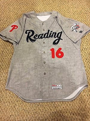 2015 Zach Eflin Game Worn Used Signed Jersey Philadelphia Phillies