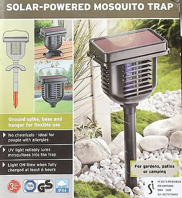 New Solar Powered Mosquito Trap - Ideal For Gardens, Patios And Camping
