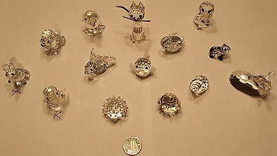 Assorted Lot of 14 Swarovski Crystal Miniature Figures Figurines