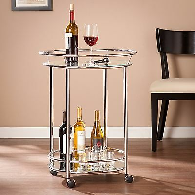 Jbc71530 High Shine Metal & Glass Bar Cart