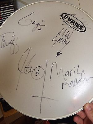 Marilyn Manson Band Signed Drumhead