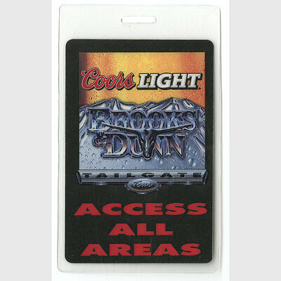 Brooks and Dunn authentic 2000 Laminated Backstage Pass Tailgate Party Tour AA