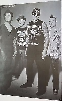 "O-7165 AVENGED SEVENFOLD THE POSTER 24""x36"" MUSIC ROCK CONCERT NEW SIDE SHEET"