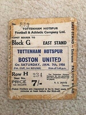 Tottenham (Spurs) v Boston United 7/1/1956 TICKET (offers invited)