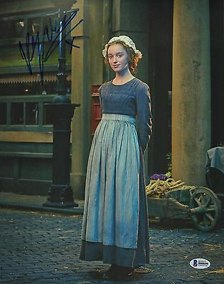 Phoebe Dynevor Signed 11x14 Photo BAS Beckett COA Dickensian Picture Autograph