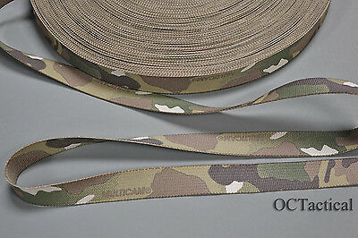 1 inch (25mm) MilSpec Multicam Nylon Webbing Double Sided (10 Yards) Made by MMI