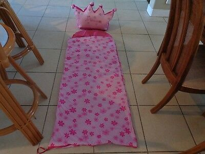 Pink Princess Sleeping Bag & Crown Shaped Carry Bag Adorable