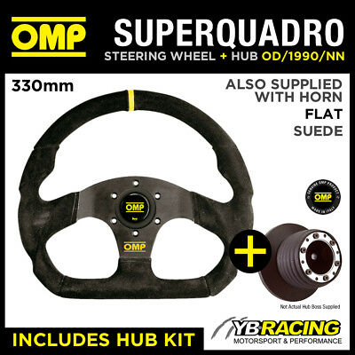 Toyota Paseo 92- Omp Super Quadro Flat Bottom Steering Wheel & Hub Kit