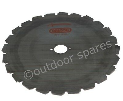 Genuine Oregon 225mm Brushcutter Clearing Blade 110977 25.4mm Centre 30-45cc