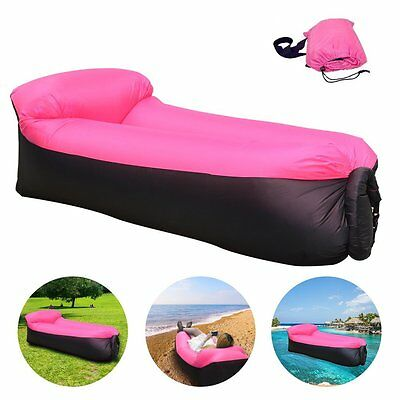 iRegro Portable Inflatable Sofa with Integrated Pillow, Waterproof Air Sofa Air