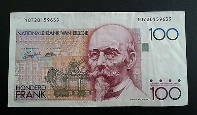 BELGIUM Banknote 100 Francs circulated nice condition