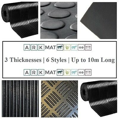 Choose from 22 Styles & Various Thickness Mat & Size Rubber Flooring Matting