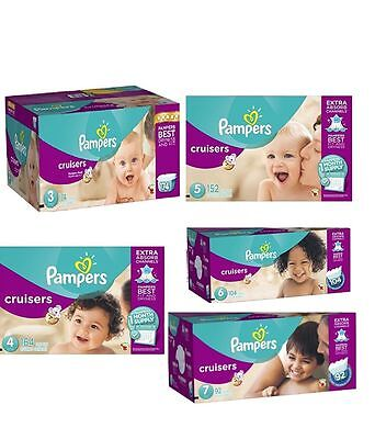 Pampers Cruisers Baby Diapers Size 3, 4, 5, 6, 7, CHEAP!!! NO TAX