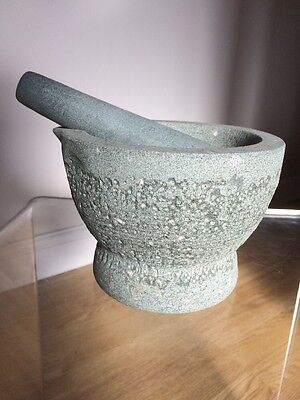 Pestle And Mortar Granite Jamie Oliver Kitchen Tool Heavy Perfect Condition
