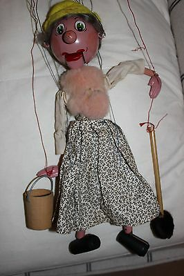 PELHAM PUPPET Woman with mop & bucket. Has working mouth. boxed
