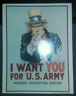Vintage Uncle Sam I Want You for the US Army Recruiting Poster April 1978 Flagg