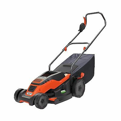 BLACK + DECKER EM1500 15-Inch Corded Mower with Edge Max 10-Amp Orange