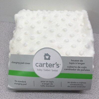 NIP Carters Super Soft Changing Pad Cover, Off White with Texture Dots  (5)