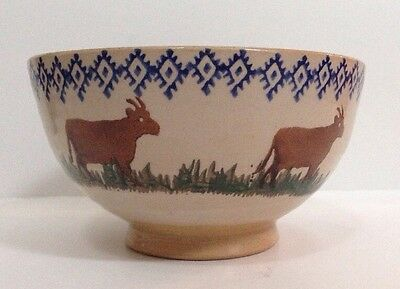 Nicholas Mosse Bowl Goat Cow Footed Dish Pottery Made In Ireland Vintage
