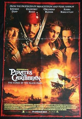 Movie Poster One Sheet - Pirates Of The Caribbean - Curse Of The Black Pearl