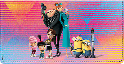 Despicable Me 3 Leather Checkbook Cover
