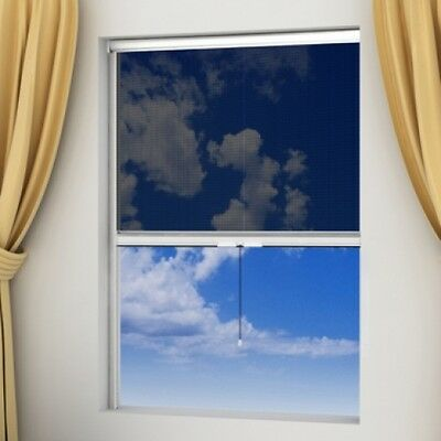 White Roll Down Insect Screen for Windows 140 x 170 cm