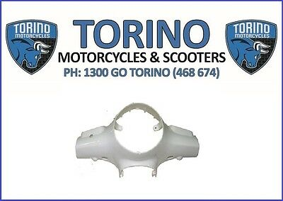 Torino Famosa Scooter White Front Handle Bar Panel - OEM Torino Spare Parts
