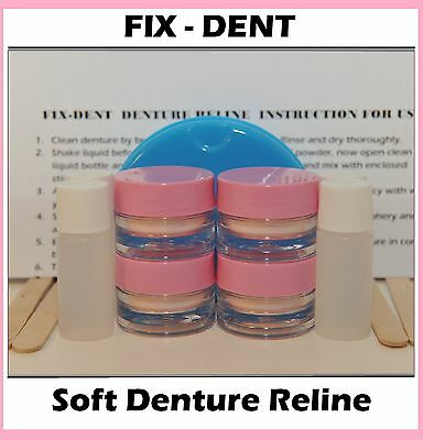 FIX-DENT Professional Denture Repair 4 Kits! Easy and Safe