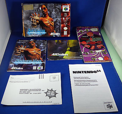 N64 - Shadow Man - BOX MANUAL MAP POSTER WARRANTY INFO BOOKLET ONLY Nintendo 64