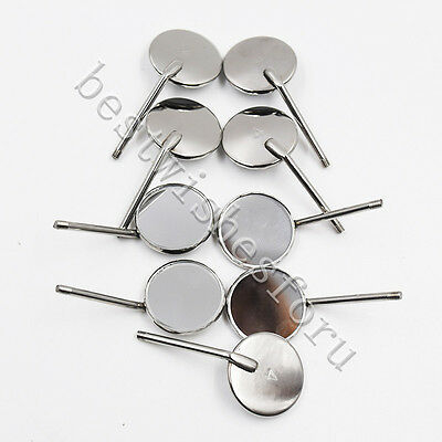 50Pc Dental Inspect Odontoscope Stainless Steel Mouth Glass Mirrors Reflector #4