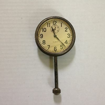Vintage Elgin 8 Day Classic Car Clock.... parts or restoration Made in USA