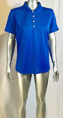 NWT Women's  Callaway Golf Polo Size Large Color Royal Blue Comfor Performance