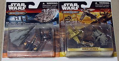 Lot (2) Star Wars Micro Machines Gold Series Clone Clash & First Order Attacks
