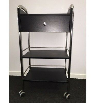 Sale Black Storage Trolley Sleek and stylish Weight Bearing Salon Home Wax Sale
