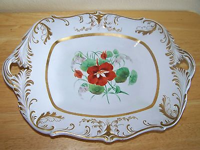Fancy Antique Platter Marked With A G Very Fancy Nasturtium Flowers On It