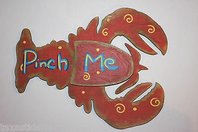 (1)pc, LOBSTER WALL DECOR, PINCH ME LOBSTER SIGN, LOBSTER LOVERS CHRISTMAS GIFT