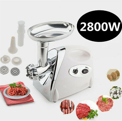 2800W Electric Meat Grinder Sausage Stuffer Maker W/ Food Pusher Home Use New